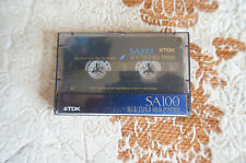 TDK SA100+case,chrome type II audio cassette tape .only used once,vgc,rare