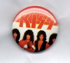 KISS BUTTON BADGE AMERICAN HARD ROCK BAND I Was Made For Loving You 25mm Pin