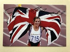 """Athletics Sally Gunnell signed 6"""" x 4"""" photograph"""