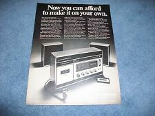 "1971 Panasonic Rs-253S Vintage Radio Tape Recorder Ad "".Make it on Your Own"""