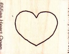 SMALL HEART OPEN - Wood Mounted Rubber Stamp - Inca Stamp/Personal Impressions