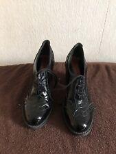 Clarks Black Patent Leather Brogue Shoes Size 5