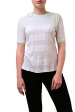 Wildfox Women's Muy Bien Football Jersey Tee Top Mint White Size S RRP £65 BCF74