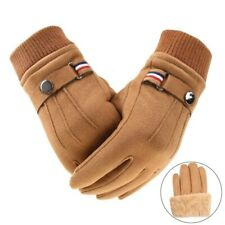Men Winter Gloves Keep Warm Touch Screen Windproof Driving Thick Leather Mitten