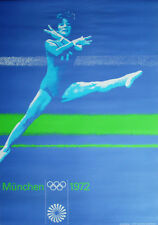 MUNICH 1972 OLYMPICS GYMNASTICS A0 Large sized poster (33x47) OTL AICHER art