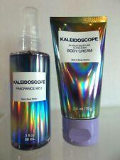 Bath Body Works KALEIDOSCOPE Body Cream Lotion & Fragrance Mist Spray 2 pc set