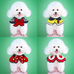 Cute Pet Puppy Cat Dog Bibs Scarf Bandana Collar Adjustable Grooming Accessories
