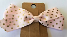Hair Clip Bow Alligator Baby Toddler Girl Kids Grosgrain ribbon - NEW pink gold