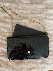 Louis Vuitton Amarante Pochette Felicie Monogram Vernis Chain/shoulder Wallet