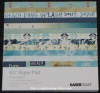 """Kaisercraft 'SUMMER SPLASH' 6.5"""" Paper Pad Beach/Holiday/Summer KAISER"""