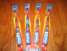 LOT OF 4 POWER RANGERS Oral-B Stages 3 Childrens 5-7 Toothbrush NEW FREE SHIP