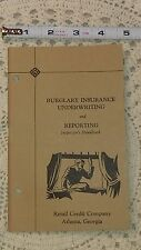 Limited Run Vintage 1943 Burglary Insurance Book – Mid Century Risk Underwriting