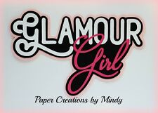 CRAFTECAFE MINDY GLAMOUR GIRL MAKEUP premade paper piecing TITLE scrapbook