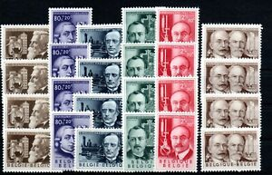 BELGIUM , 1955 , CULTURE , better set FOURTIMES !! , MNH !