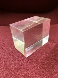 """Solid Clear Acrylic Display Block  2-5/8"""" x 3-3/8"""" x 2"""" (10 pieces in set)"""