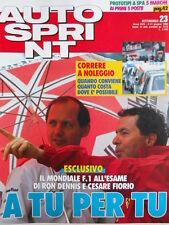 Autosprint n°23 1990 Alain Prost - Ron Dennis e Cesare Fiorio  [P8]
