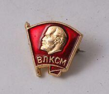"""9/16"""" Soviet Pin Lenin VLKSM KomSoMol Member Red Banner Youth badge Communist"""