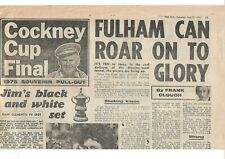 The Sun pullout FA Cup Final 1975 Fulham v West Ham United programme