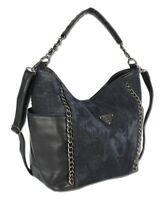 Große Damen Handtasche Schultertasche Umhängetasche Shopper für Frauen Jeans