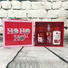 Ho Ho Ho Bath And Body Works Japanese Cherry Blossom Full Size 3 Piece Gift Set