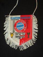 fanion wimpel pennant football ancien FC BAYERN MUNCHEN MUNICH DEUTSCHLAND 1990