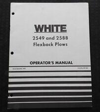 GENUINE WHITE OLIVER 2549 2588 FLEXBACK PLOW OPERATORS MANUAL VERY GOOD SHAPE