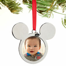 Disney Store Mickey Mouse Icon Photo Frame Ears Christmas Ornament Figure NWT