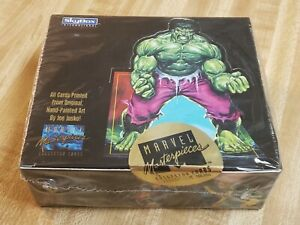 1992 Marvel Masterpieces SkyBox Trading Cards - Sealed Box 1st Series Joe Jusko