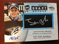 Jonathon BLUM The Cup AUTO ROOKIE DRAFT BOARDS 18/25 Panthers 2011-12