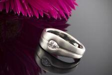 Schmuck Feiner Platin Ring feuriger Diamant Tropfen Massive Goldschmiedearbeit