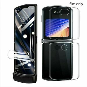 [3in1] For Motorola Razr 5G Full Coverage Hydrogel Soft Flim Screen Protector