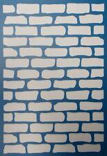 Scrapbooking - STENCILS TEMPLATES MASKS SHEET - Bricks Background Stencil