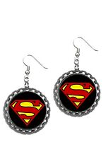 Superman super man earrings earring set super cute pair of earrings