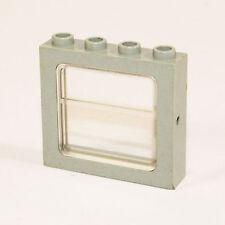 Lego 1x Zug Fenster Train clear Window Eisenbahn grau gray 4033 4547 4558 Z88