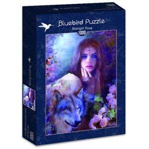 """Puzzle 1000 pièces """"Rose De Minuit"""" Neuf Sous Blister - Bluebird"""