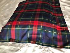 Plaid pillow sham made in Italy Pj Flowers standard size 100% cotton