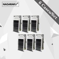 Nagaraku 6 Cases Set,7~15mm Mix 16rows Tray Mink Extension,natural Eyelashes....