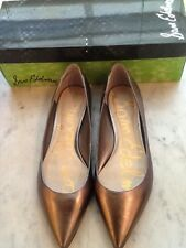 df4562ac9cac Ladies Sam Edelman Rae Dark Silver Metallic Leather Pointy Toe Flats NIB
