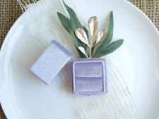 Heirloom Collection Velvet Ring Box - Pearly Pastel Edition - Lilac
