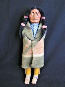 "Antique Skookum Indian Doll - 14"" - 1930's"