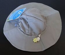 i play. gray Brim Sun Protection beach Hat with Pull On closure draw cord,0-6 m
