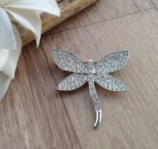 Large Diamonte Crystal Dragonfly BROOCH Sparkle