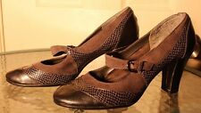 "A2 by AEROSOLES womens ""Troley"" Grey Heels Shoes Mary Jane faux snake sz 8M"