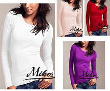 Rundhals-Shirt Langarm perfekte Basis für den Alltag  S/M M/L 36/38 38/40