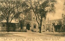 OLD POSTCARD NEW & OLD LIBRARIES & ALUMNI HALL YALE UNIVERSITY CT CONNECTICUT