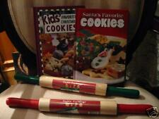 Xmas Holiday Stocking Stuffer Child, Kid Chef Cook, Bake Book w/Real Roller Pin