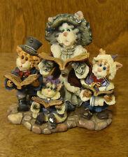 Boyds Purrstones #371005 Mrs. Fezziewig w Marley, Bob & Caroline, LE 1st Ed NIB