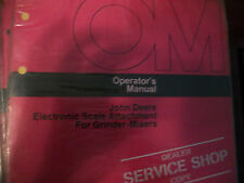 JOHN DEERE OPERATOR'S MANUAL ELECTRONIC SCALE ATTACH. FOR GRINDER-MIXER ISSUE G4