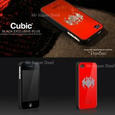 IPhone 4 S CASE COVER BUMPER GUSCIO TPU maniche a pipistrello con SWAROVSKI ELEMENTS