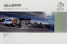 Prospetto Knaus CASSETTA CARRELLO E RIMORCHI 2008 BOX STAR YAMC Yat viaggio mobile Caravan